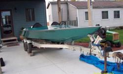 THIS IS A FUN BOAT GREAT FOR WATER SKIING OR TUBING IT'S IN VERY GOOD CONDITION WITH NEW SEATS AND CARPET IT HAS ALUMINUM FUEL TANKS AND A TANDOM ALUNINUM TRAILER WITH NEWER TIRS.