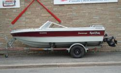 1985  17' Peterborough Jet Star, 2.5 L Mercrusier  & Wiscot Trailer     This boat is in great condtion, it has a new mooring cover, new battery and cb radio     This boat only has only 34 hours on it.    Located at Nicholls Marine - Fort Erie     $