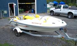 Boat is in excellent condition, always stored in a garage. Owner moved up to a larger boat. Great water skiing boat.
