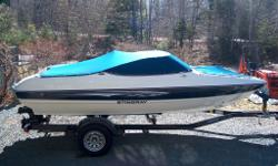 Have fun this summer with this beautiful 2011 Stingray boat, includes trailer. Shows like new, very economical, 4 cylinder, 3 litre mercury motor, cd stereo, bimini top, cockpit and bow covers, 36oz indestructible vinyl seats, quality carpet, built-in ice