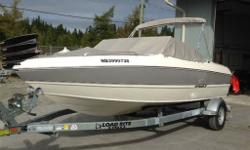 Beautiful bow rider bought new in 2013. After two awesome seasons we are looking for our next adventure. 129 L tank Includes load rite trailer Fully vented windshield Garmin 527 xs GPS chartplotter and sonar Grey stripes Very easy to take in and out of