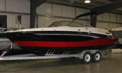 The first model of a new series of exciting, multi-usage sport boats has arrived�Monterey�s M5. Tri-tone gelcoat is standard or you can spice up your M5 with stylish M graphics, the choice is yours. Take the entire family out for a day of cruising,
