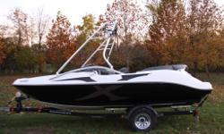 Very stable, quick lightweight boat, excellent ski/wake boat, turns on a dime. Eight seats recently re-upholstered interior & new exterior decals. Boat driven & maintained by mature owner; reliable Mercury OptiMax motor, ware-housing recently re-built &