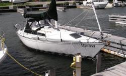 Wastrel has many upgrades including awlgripped hull & deck, Simrad GPS plotter, epoxy barrier coat, dodger, Auitohelm & 4 sails. Galley is equipped with propane stove, hot & cold pressure water & refrigeration.