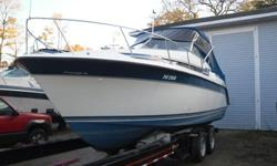 Here is likely the largest 25ft Cabin Cruiser on the market, over six ft. head room its its very spacious cabin, which accomidates a large galley, large sep. head, queen aft cabin and queen V-birth, this boat has a spacious 10ft wide beam and a large