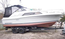 1984 Carver Montery Express Cruiser , This is a great running boat and well built boat, plenty of room for everyone and has all the ammenities, sleeps 4, shorepower,  AC/DC fridge, stove, private head, hot/cold water, fold down kitchenette, new VC -17