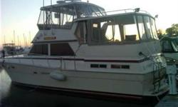 Rare in these waters Ocean boat in Lake Erie Diesel power, twin hard top options Full beam to beam aft cabin Huge forward cabin Loaded and very clean Here's the last yacht you will need Options Air conditioning, Auto Pilot, Battery Charger, Bilge Pump,