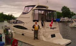 "One owner vessel. First launched in 2004. You are sure to be impressed with the amount of space on this boat. She measures 36'11"" overall and 13'2"" wide. The salon is a wide open space that is more like a downtown condo than a boat. Two tiered side"