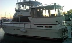 Diesel powered  Twin hard tops  Loaded, Loaded  Big water cruiser or live aboard  A must see to appreciate