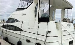This spectacular Carver 396 has everything a boater needs for luxury cruising with full electronics, fully equipped galley and beautiful spacious decor. The full beam salon boasts nearly seven feet of headroom. This boat was built for on the water