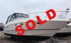 SOLD IT DOESN'T GET ANY BETTER THAN THIS. SHOWROOM CONDITION, CABIN STILL SMELLS NEW! RARE OPPORTUNITY TO OWN A MINT CONDITION 35' CRUISER WITH ALL THE OPTIONS. ONLY 140 HOURS, OPTIONAL 8.1 VOLVO DP'S, GENERATOR, A/C, DEPTH, WINDLASS, SPOTLIGHT, HALON,