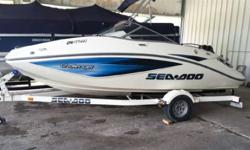Bimini top, custom trailer, sea doo boat cover, Rotax 4-tec engine. DEWILDT MARINE & POWERSPORTS ? THE BIG FUN STORE ON THE 400. We are a full-line Yamaha marine and powersports dealer and are the area?s boat dealer for Larson / Larson Fx Boats, G3 Boats,