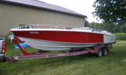 1976 Magnum Marine, 27? Sport. Rare offshore, Collector boat. Legendary race hull built by world champion Don Aronow Holman moody engines, Volvo drives, Eagle trailer, flat deck style, 4 new rims and 4 new tires Collector boat going up in value some