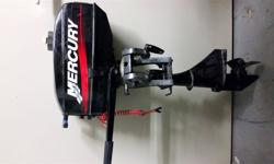 Very lightly used Mercury 2.5HP outboard in excellent condition.