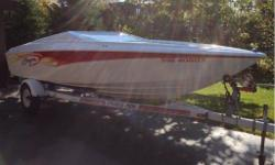 2003-BAJA-20-OUTLAW with Fiberglass Swim Platform. This is a fun in the sun boat. Great on fuel, easy to look after. Alpha Drive w/stainless prop. Included are bumpers,ropes,jackets,cover. Also included is a 2004 cradle ride trailer. Mint condition.