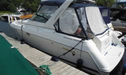 This is a well designed and cared for cruiser that will sleep (6) six people rather comfortably. Powered by twin Mercruiser 7.4 MPI's (375HP each) with Bravo III outdrives you'll have no problem cruising at 30MPH. These engines have benefited from very