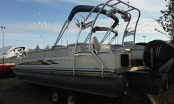 WEST EDMONTON Great Shape With Lots Of Extras!250 HP Mercury Verado Outboard Engine, Seating for 11, Tower, 4 Tower Speakers, Tower Lights, Stereo, Bimini Top, Cup Holders, Ski Pylon, Fish Finder, Docking Lights, Boarding Ladder, Snap Cover, Minn Kota 24V