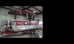 300 horsepower, BRAVO 3, Vinyl Floor, Stainless Steel Speaker covers, Snap in 30 ounce Berber Carpet, Double Bimini Top, In Floor Storage, Triple pontoons, Live well Seat Insert. Construction second to none Continuous full length risers, sixteen center