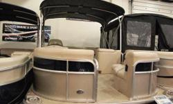 Fiberglass Console w/ Raised Butterscotch Wood Dash & Steering Wheel w/ Sink & 3 Gallon Freshwater Tank, Humminbird GPS & Fish/Depth Sounder, as well as Clarion Waterproof Audio System, iPod andMP3 Ready w/ 4 Speakers. Luxury Seating & Upholstery w/ Color