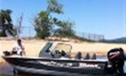Triton Dv Mag, Made by crestliner, very similar to the fish hawk. Boat collects dust, full cover, full awning, wireless trolling motor, two live wells, center rod storage, built in cooler, plenty of storage, full walkthrough windshield, fish finder, bunk