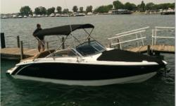 This is as brand new as 'used' could possibly get, this beautiful 24' Cobalt has only 4 hours on it, and full of goodies! Options include; 6.2L MPI, Bravo III, Integrated Cobalt Windlass, Power engine hatch, Full camper enclosure, Tonneau covers, Bimini
