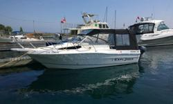 Fresh trade, camper top, very clean, Yamaha 4- stroke kicker, trailer, VERY WELL MAINTAINED, Pumpout Head, Stereo, VHF, Dual Batteries. Why buy from us? We seatrial all boats before delivery. We take you out and show you the operation of the boat. Come