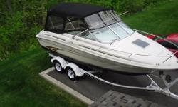 2000 Sea Ray 215, 5.0 Mercruiser, Trailer Included, Newer Camper top and Cockpit cover, 650 hours, color GPS, Anti-fouling, Extra Clean, Brokerage Sale $20,500. Options
