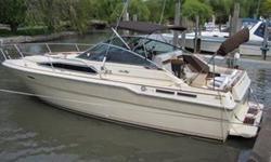 1985 30' SeaRay Sundancer. Twin 350's ( 1170 Hrs ) Merc out drives. Newer 4 blade props with spares. A coat of Fresh bottom paint has been done and it's ready for the water. This Sundancer offers Full travel comfort, combined with great performance and