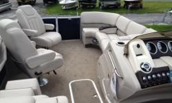 2014 Bennington 2350 RCL2350 RCL WITH EVINRUDE 75 ETEC UPGRADED OPTIONS INCLUDED : PORT TABLE GROUP-DIMENSIONAL CHROME LOGOS- SEAGRASS AFT FLOORING- ELEVATED HELM- GPS ECHOMAP 50S COASTAL-BLUETOOTH SONY STEREO- LIGHTED BIMINI TOP- LIGHTED CUPHOLDERS-