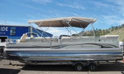 Nice Luxury Pontoon Boat - Three Pontoons - Well Kept - Snap In Carpet - Extended Swim Platform - Full Bimini Top - Changeroom - Mooring Cover - Trailer Included