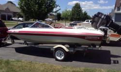 Great family boat, runs great, just up graded to something bugger. New prop, ez loader trailer, with 2 spare tires.