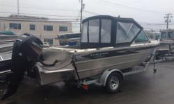 Package Includes: Mercury 90HP EFI 4ST / Highliner 2300LB. Galv. Trailer / 7'-2 Beam / One Piece Formed Hull / Low Profile Bow Railing / Chain Locker w/ Drain / Downrigger Pads / Dual Wipers / 25 Engine Bracket w/ Kicker Mount / Fish Box In Rear Gunnel w/