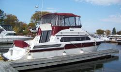 Reduced for fall sale. Very nice fly bridge boat with thousands spent on upgrades. Engines rebuilt at 1000 hrs. Bridge seating for 10 people. Interior seating for 10. Perfect boat for entertaining or live aboard. Sleeps 4. Six batteries. 2000 watt