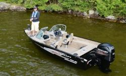 NEW ultra wide body!The Nanook DLX from Princecraft is a 16' boat that fishes much bigger. With their flawless finish and ergonomic design, the fully equipped DLX Series' aluminum fishing boats are veritable fishing machines. Try one and you'll see!Call