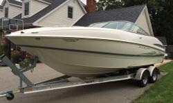 2006 maxum 2400 SC3 Merc 5.0 MPI. 260 hp Bravo 3 210 hours Raymarine dragonfly finder / chart plotter (new in June 2015) Full canvas / camper top Snap in carpet Transom wash down Stereo Porta potty - with pump out hose Fortress anchor in locker Bbq with