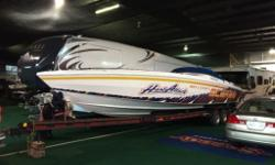 1995 Scarab 38 w/Eagle Trailer Mint Condition. 630 Hours Twin 525 Supercharged I/O's Silence Choice Engine room Dress up Kit Snap in Carpet Cockpit Cover Head Survey done Dec 2015 Eagle Trailer Included Fully serviced and like new $54,999 plus lic and