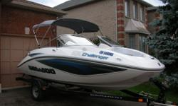 2008 Seadoo Challenger 180se with only 60 HRS. In great condition, very well taken care of. 215HP 4-stroke engine. All maintenance done by certified bombardier technicians. Stored indoors every winter since new. Comes with bimini top, grey carpet floor