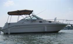 1998 SeaRay 270 Sundancer SE, currently in the water at Lefroy Harbour Resorts (south Lake Simcoe) in a covered slip. Fully equipped and ready to go today. Even includes a full tank of fuel! The season doesn't end until Thanksgiving, there's still time