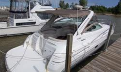 Merc 454 inboards, AC and heat, windlass with foot controls, generator, large stereo system, all new camper tops, upgraded cockpit upholstery, leather interior, vacu flush system, new front sun pad, power drivers seat, extremely clean boat thru out, large