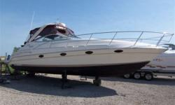 Twin Merc 7.4 MPI engines, inboards, double large swimplatform, AC and heat, gen, windlass, walk thru windshield, front sun pad, electronics, newer full size fridge, leather interior, vacu flush toilet, flat screen TV with DVD, stereo system, power