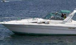 1992 330 Sea Ray in good condition. 33 feet long. Lots of room all around and features a great layout. Dual inboard 5.7L v8 engines. Come by to check this boat out today