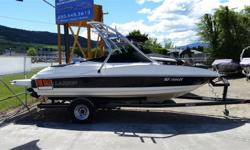 5.0 litre Mercury V8, bowrider, wake tower, stereo, 8 passenger, approx 500 hours, EZ loader trailer, breakaway hitch.