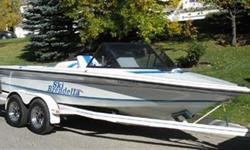 Comes with a board Pole, CD Player Stereo, Boat Trailer and new fit tarp. Boat runs excellent and is in excellent shape. Always stored indoors and fully maintained. Unfortunately new jobs have taken us off the lakes so we have to sell, it would be a waste