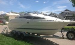 Beautiful Cabin Cruiser w/Triple axle trailer/Hard Bottom Dingy, 1996- series 2655SB Sierra Bayliner, Engine 350 Chevy, approx 510 hrs. Owner before me was a heavy duty mechanic, Triple axle king trailer. New Brake system, BC legal (5yrs old) Included: