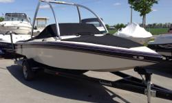 Exceptionally clean boat, Mercruiser 280 Propshaft HP Tournament Ski, Monster tower, serviced here for the past 6 years. Full cover and matching trailer included. New boats arriving daily! Huge inventory. Call us with what you're looking for;