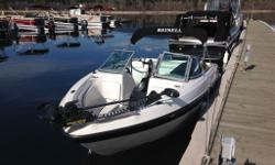 LOA: 20 BEAM: 8 WEIGHT: 3000 Lbs CAPACITY: 8 2007 Reinell 190 Fish & Ski -Bow mounted electric trolling motor -Digital depth guage -Removable fishing seats -Removable bimini top -Extra large ski locker -4.3L V6 mercury motor www.lrboatworld.com