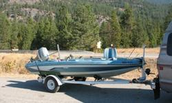 1982 Glastron Bass Boat. !985 Suzuki 65 HP outboard motor. Ski tow bar.Fish Finder, 12 v trolling motor, down rigger, new trailer tires and many other accessories.