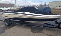 THIS SKI/ FISH MODEL COMES POWERED BY THE 4.3 L MERCRUISER I/O, CUSTOM MATCHED TAHOE TRAILER WITH FOLDING TONGUE. IT IS A GREAT DUAL PURPOSE BOWRIDER FOR THE WHOLE FAMILY