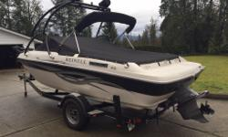 Do you like fishing or skiing ? This has it all wrapped up in one ! Great example of a very lightly used boat !! Powered by ; Volvo / Penta 4.3 Ltr , V - 6 , 190 HP Never been in Salt Water . Loaded with the all the features , ski tower , Bimini top ,