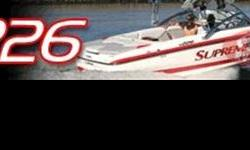 Motor 409, 420 hp Center Bow Cushions, Xtreme Cast Tower Pkg, Tower Mirror Mount, Tower Wire Harness, Ballast Rear Dual Tank, Dual Batteries w/isolator, Dock Lights, 3 vent heater, Underwater light, IPOD Adapter, Boat Cover, Trans Shield Cover , Stock